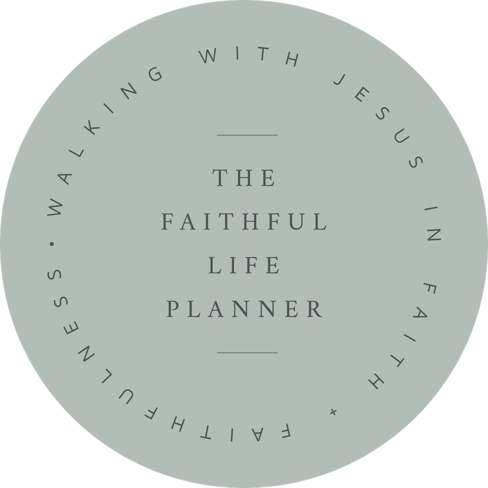 the Faithful Life Planner sage stamp